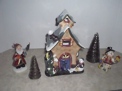 Snow Village Candle Gift Set - NIB - 5 Pieces