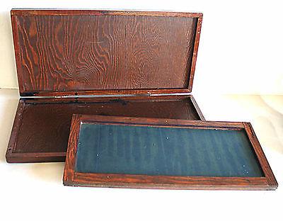Vintage Antique Silk Screen Printing Framed Screen Wood Box 1940s 15.75