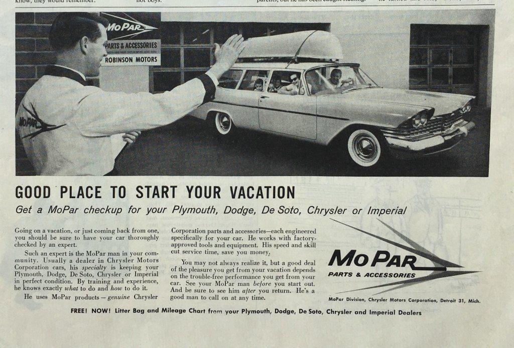 1959 MO PAR Parts & Accessories CHRYSLER Vintage PRINT AD