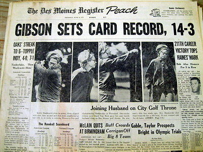 4 1972 newspapers ST LOUIS CARDINALS Pitcher BOB GIBSON Baseball WINS LEADER
