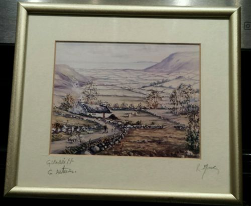 Irish Artist RW Young Signed and Framed Print of Irish Countryside