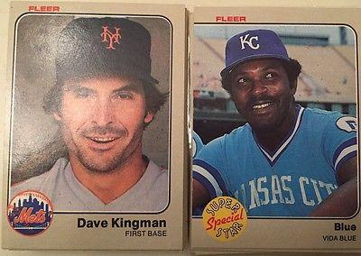 1983 Fleer Baseball Singles Complete Your Set Pick 10 Cards for $1.00