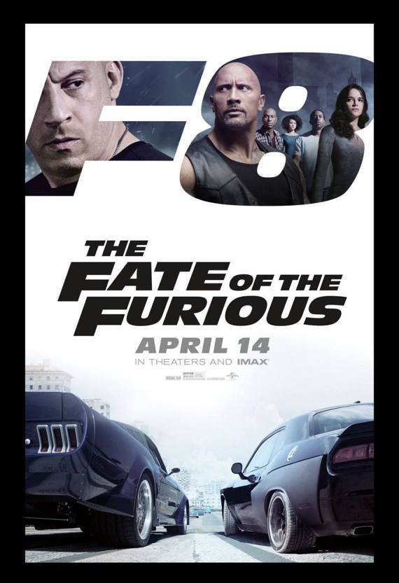 The Fate Of The Furious,Fast and the Furious, Framed poster Movie Print 11x17