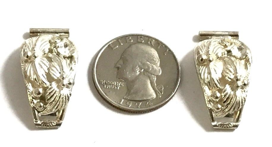 Gorgeous Native American Sterling Silver Leaf Watch Tips