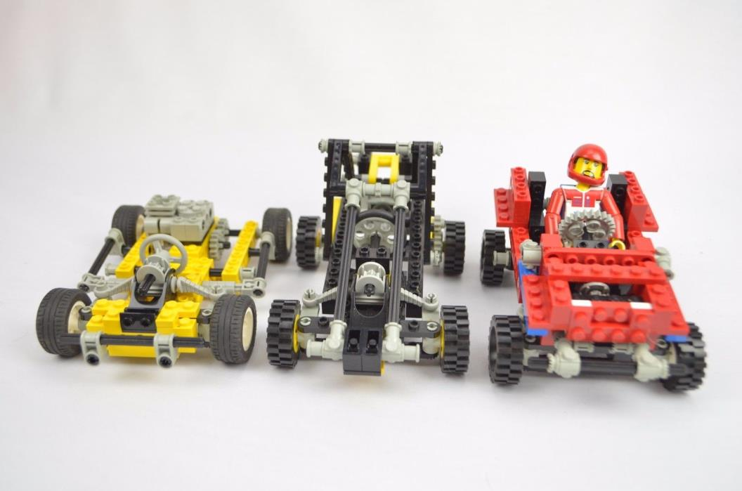 Lego Technic Race Car Go Cart Lot of 3