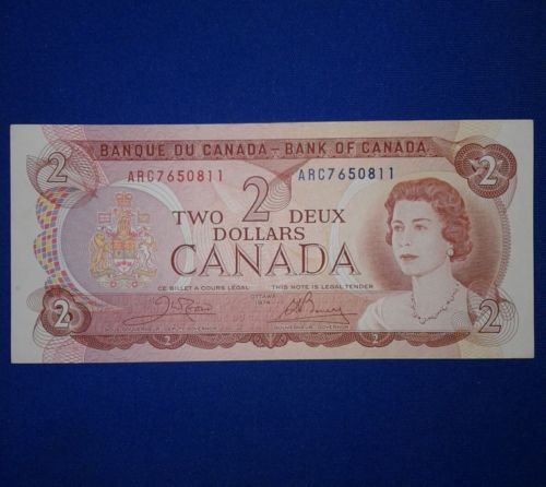 Canada 1974 two dollars banknote bill unc