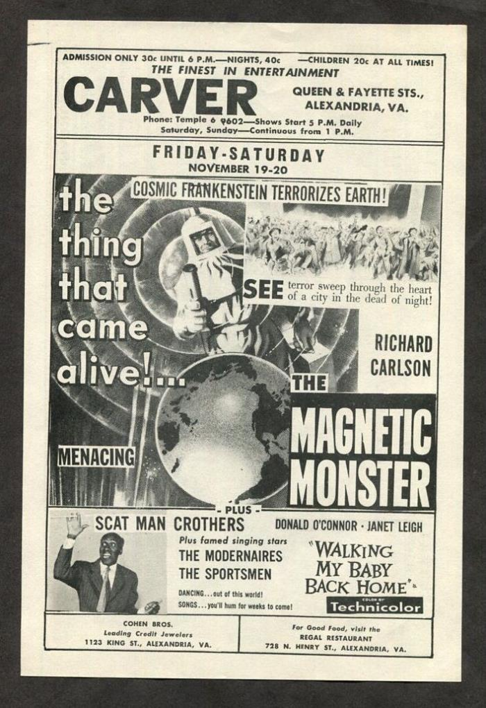 1954 Vintage Movie Pamphlet - The Magnetic Monster - Sci-Fi Horror Film
