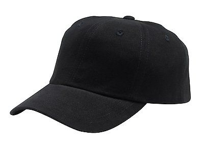 Brushed Twill Cap, Color: Black, Size: One Size