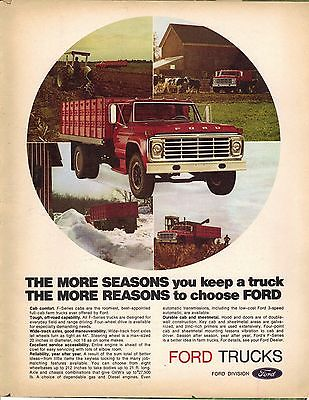 Original 1974 Ford Truck Magazine Ad - The More Seasons...The More Reasons