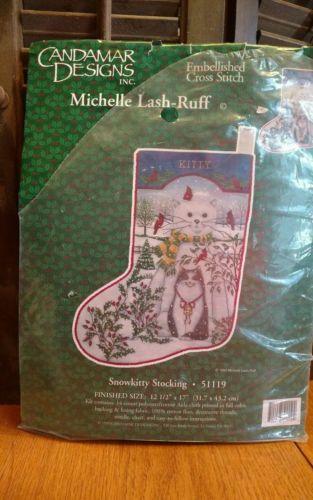 Snowkitty Stocking cross stitch kit
