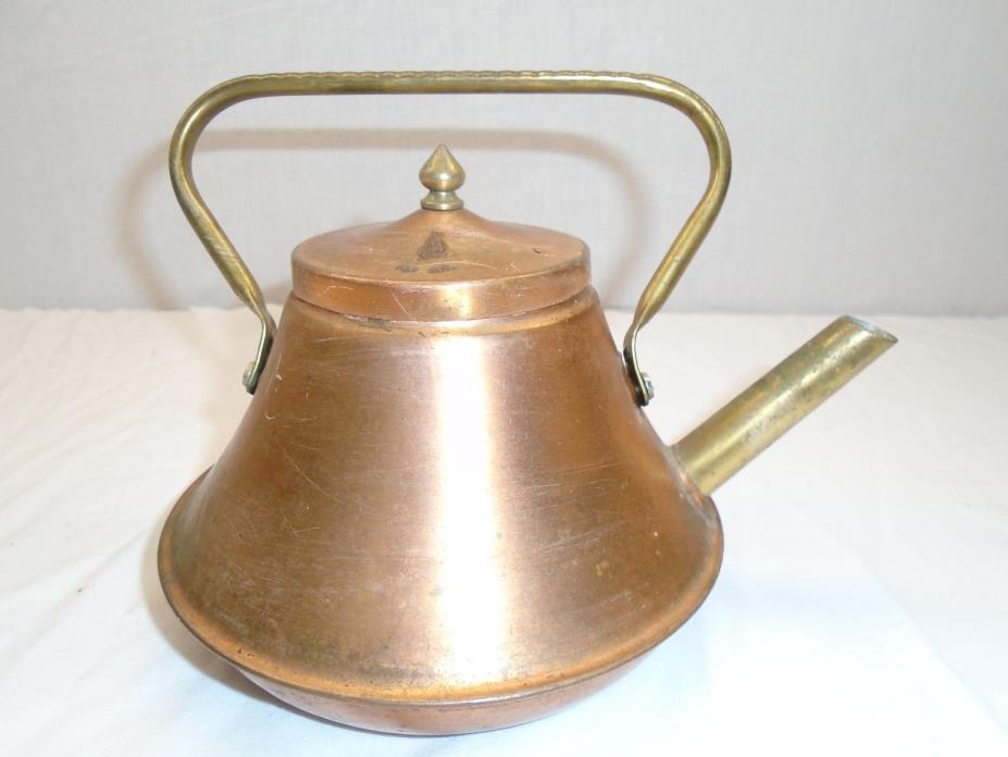 Vintage Teapot Brass / Copper Finish Decorative