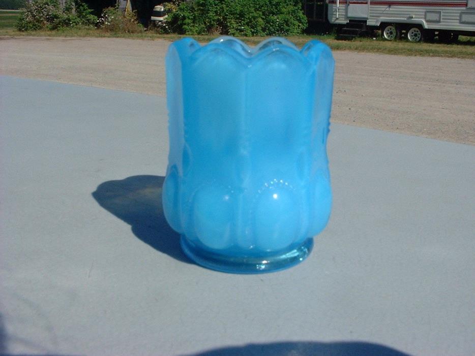 Blue Degenart Glass Toothpick Holder
