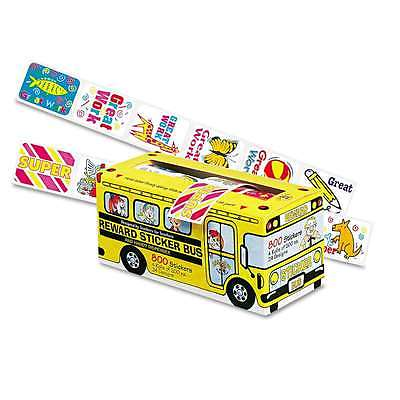 Pacon Big School Bus Reward Stickers, Assorted Designs, 800 Stick 029444514508