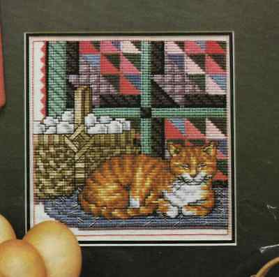Appalachian Basket, Quilt Cross Stitch pattern removed from magazine Cat