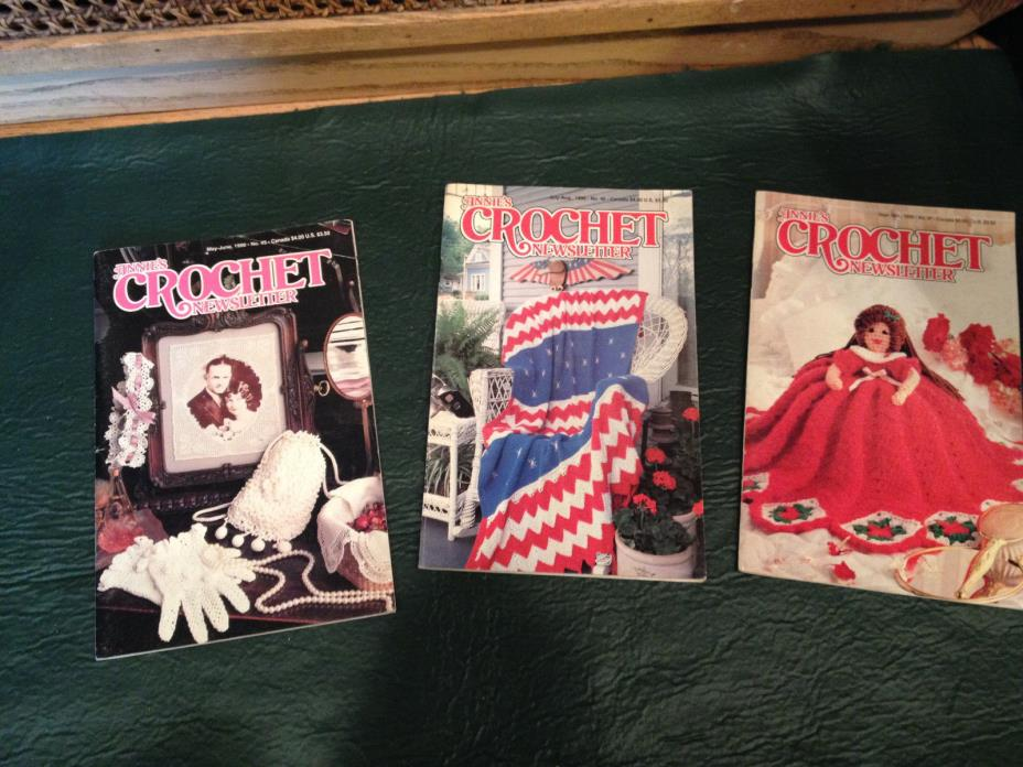 Annie's Crochet Newsletter No. 45, & 46 & 47 May -October 1990  patterns