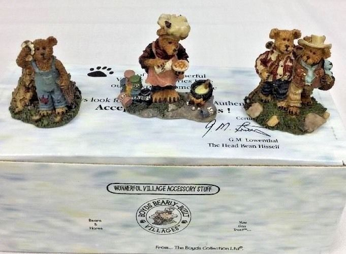 Boyd's Bearly Built Villages Certified 2000 Edmund's Hideaway New In Box