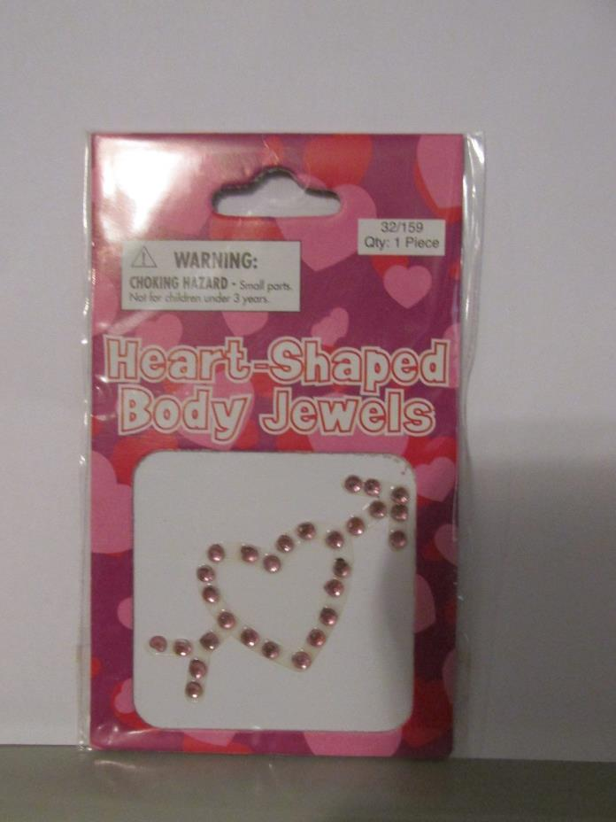 Heart Shaped Body Jewels pink color heart with arrow