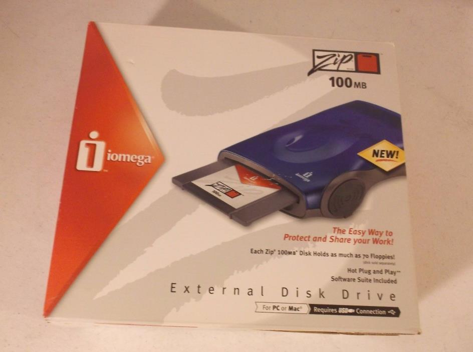 IOMEGA Zip 100MB External Disk Drive for Mac/PC