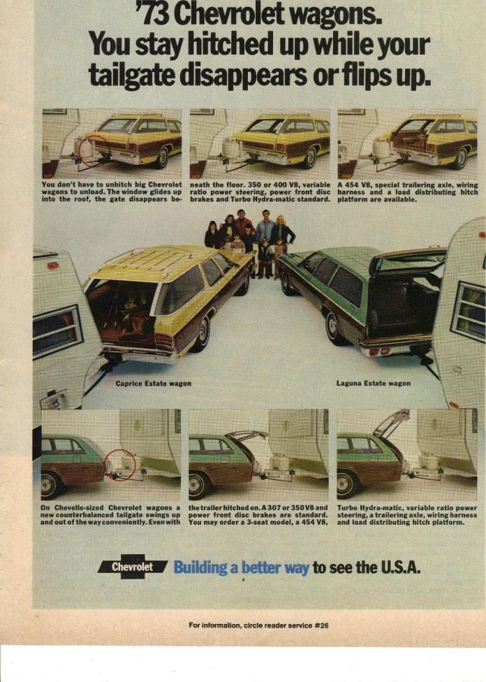 Original 1973 Chevrolet Station Wagon Magazine Ad