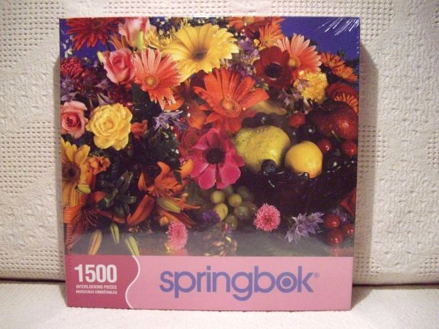 Flowers and Fruit - Springbok Puzzle (SEALED)