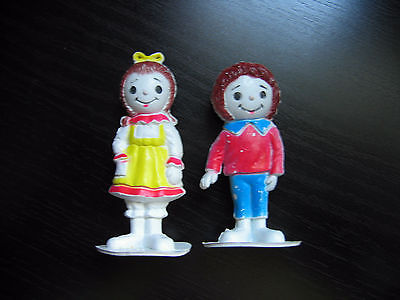 Diener Hong Kong Jack & Jill Nursery Rhyme Figures Faux Raggedy Ann & Andy