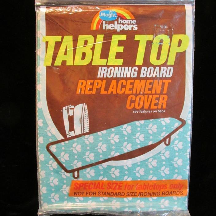 MAGLA Tabletop Ironing Board Cover-Replacement-Turquoise-Cotton-RETRO-1988-NOS