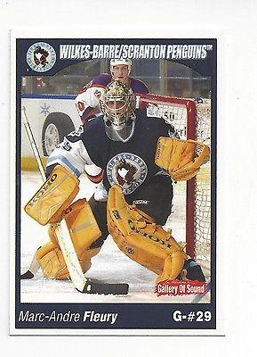 2004-05 Wilkes-Barre/Scranton Penguins (AHL) Marc-Andre Fleury (goalie)