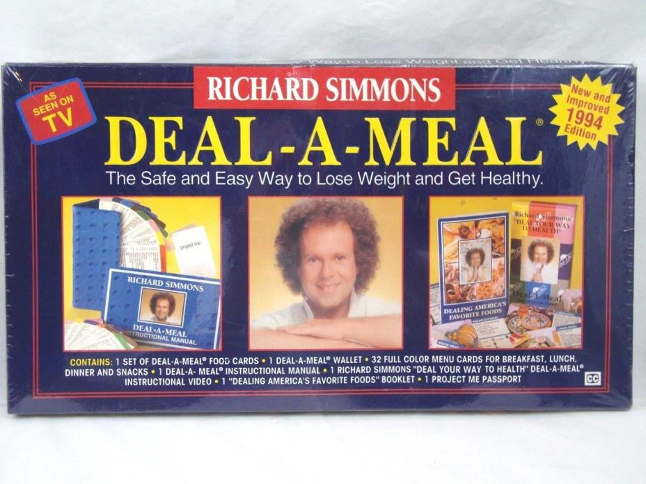 Richard Simmons Deal A Meal Healthy Weight Loss Program 1994 Edition NEW Sealed