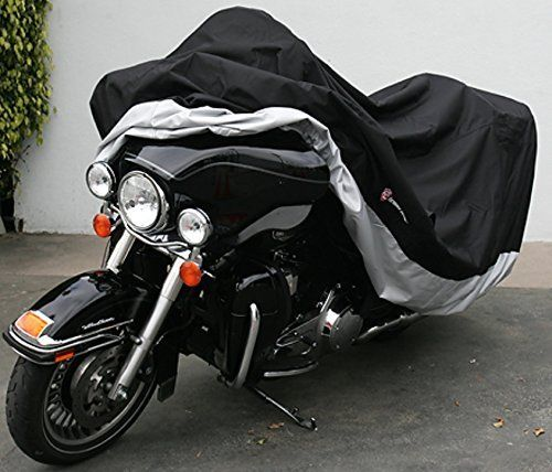 High Quality Heavy Duty Motorcycle cover (XXL) with cable & lock. Fits up to 108