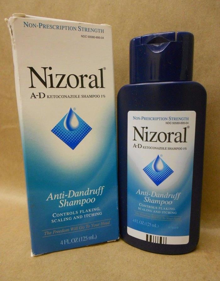 Nizoral A-D Ketoconazole  Anti-Dandruff Shampoo  Non Prescription New Exp 07/18+