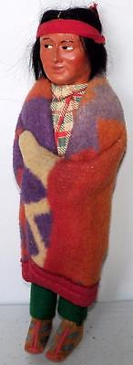 Vintage Cloth Doll SKOOKUM BRAVE NATIVE AMERICAN INDIAN DOLL