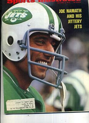 JOE NAMATH 1972 SPORTS ILLUSTRATED MAGAZINE NEW YORK JETS 4537F