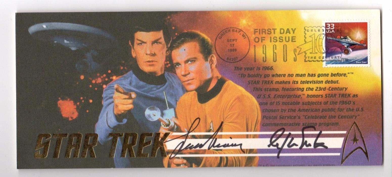 Star Trek Leonard Nimoy, William Shatner Signed- Envelope Only
