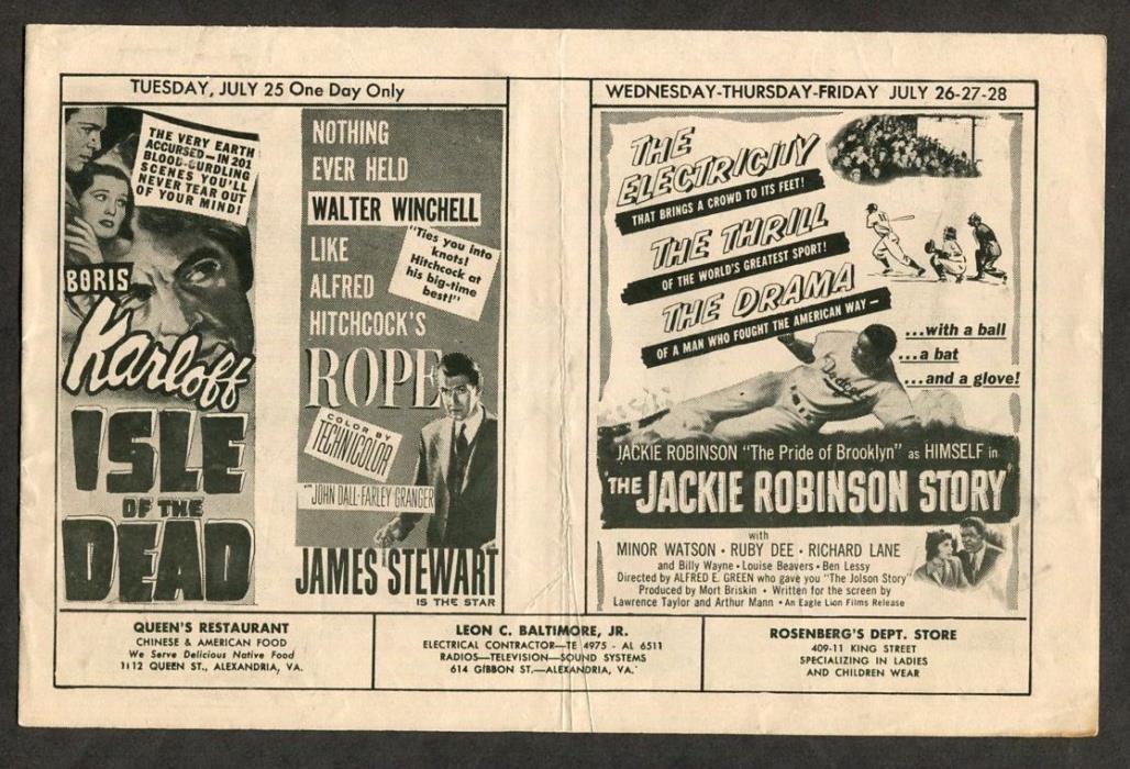 1950 Vintage Movie Pamphlet Isle of the Dead  Boris Karloff Sci-Fi Horror Film