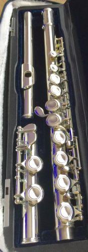 VIENTO Left Handed Concert Flute - RARE - w/ Case + Cover