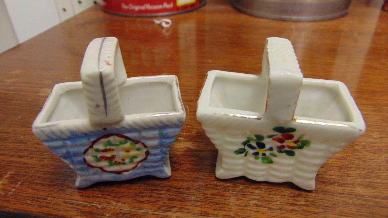 Japan Mini Basket Pair Tooth Pick Holders