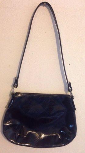 Vintage Koret Black Handbag Black Fish scale With Brass Hardwear.
