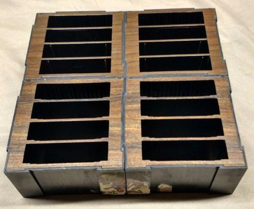 FOUR Musicmate Plastic Faux Woodgrain Modular Tape Organizer - Cassettes & Games