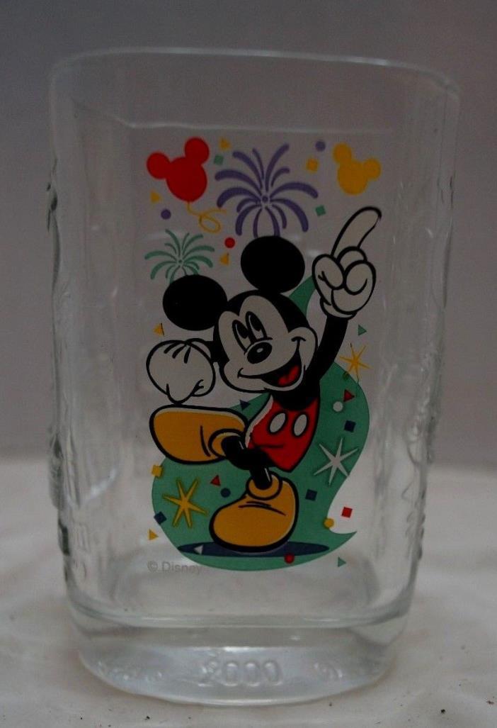 McDonalds Walt Disney-Magic Kingdom Mickey Mouse 2000 Millennium Collector Glass