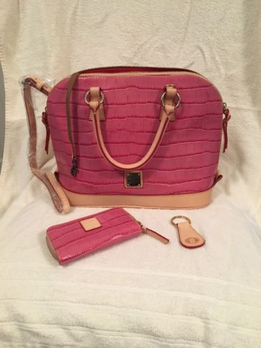 Dooney & Bourke Pink Croc Satchel