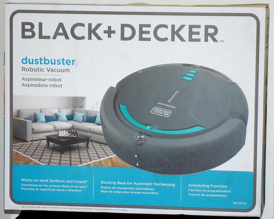Black & Decker Dustbuster Vacuum Cleaning Robot Robotic Vac BDH5000 NEW!