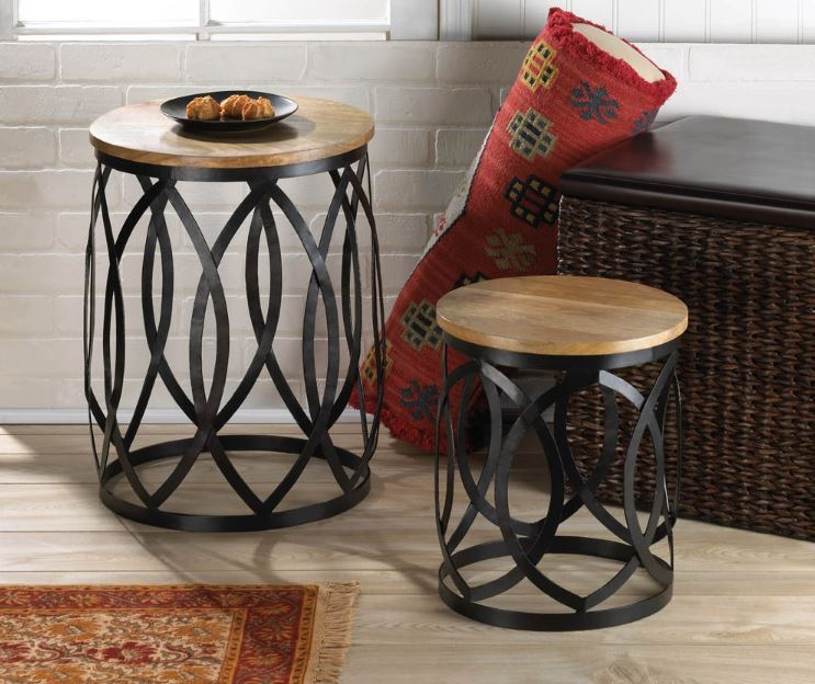 Living Room Furniture Home Decor Contemporary Accent Side Tables Stools Design
