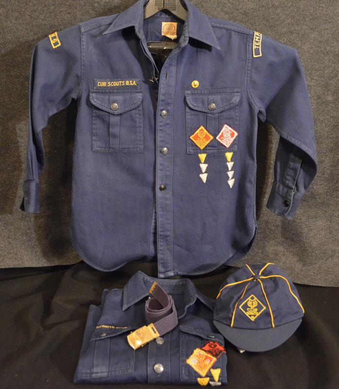 C714 OA BSA Scouts 1953 NATIONAL JAMBOREE CUB SCOUT SHIRTS LOT VINTAGE