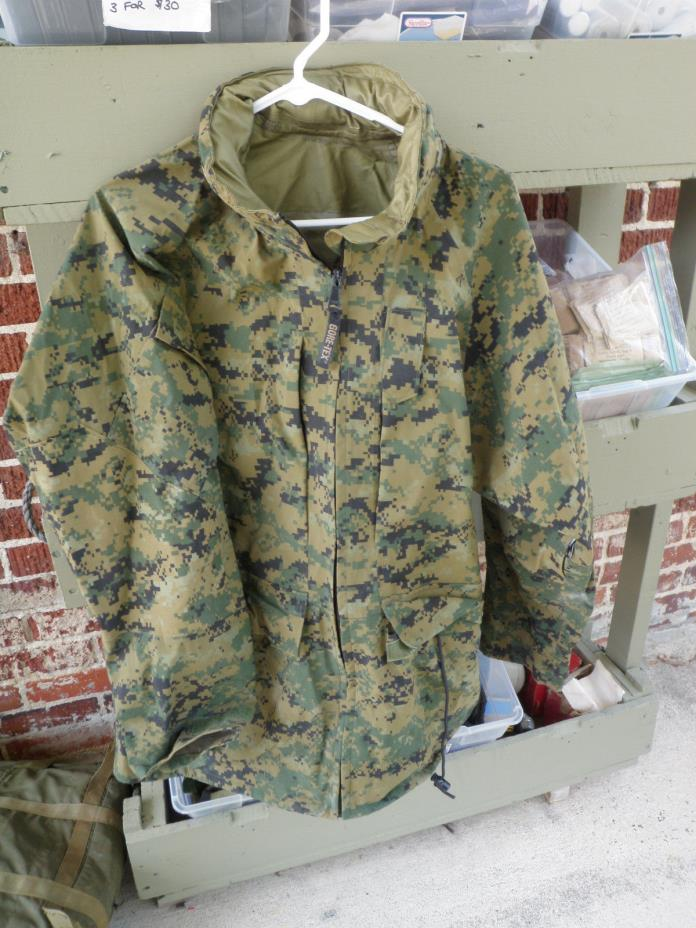 USMC Marine All purpose parka jacket environmental camo marpat MR medium regular