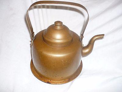 Antique Copper OPA Helsinki FINLAND Handmade Teapot / Kettle Peltiteos *NICE*