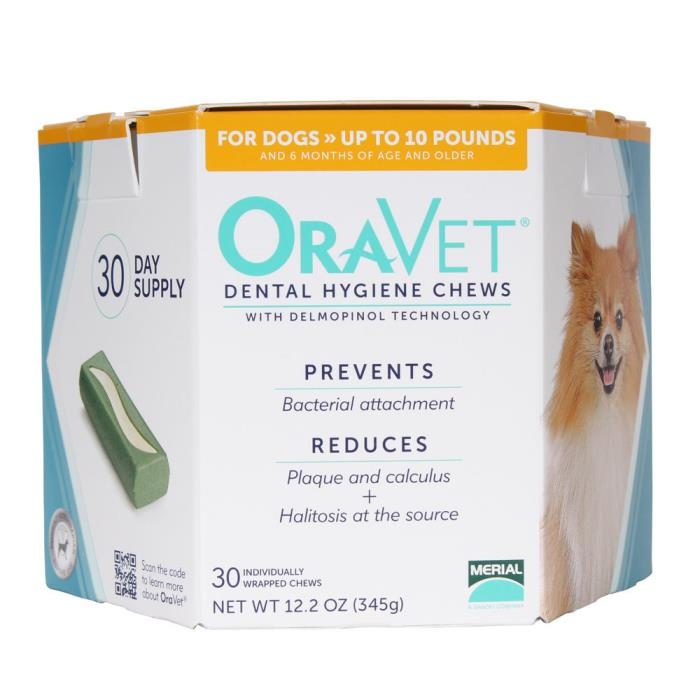 ORAVET  Dental Hygiene Chews for Dogs up to 10 lb, 30 ct