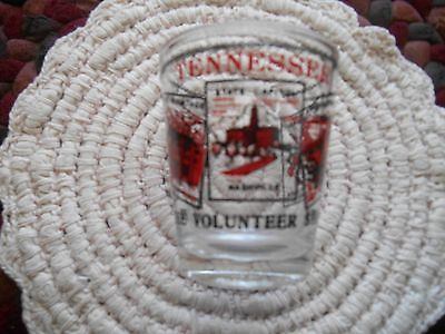 Vintage Shot Glass, Tennessee, Volunteer State, Excellent Condition