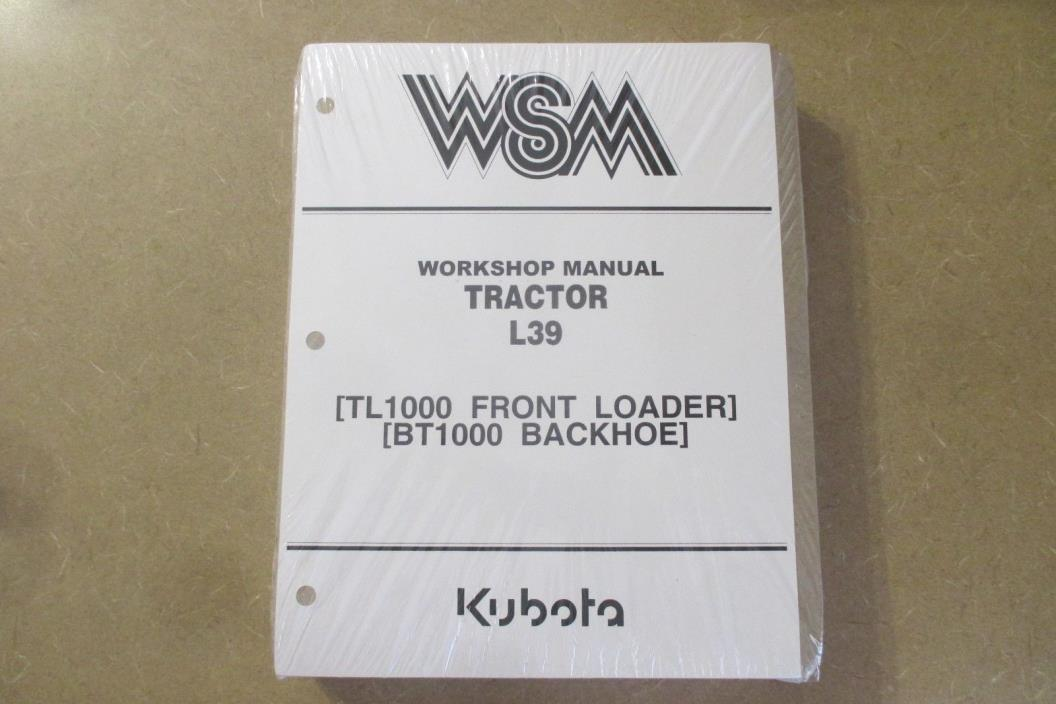 kubota l39 service manual pdf