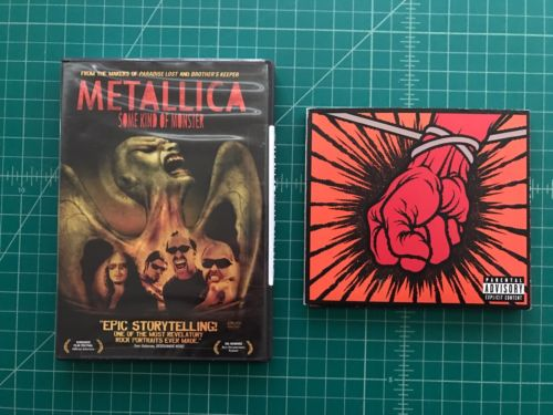 EUC METALLICA ST. ANGER CD + DVD & SOME KIND OF MONSTER DVD FREE SHIP PERFECT CO