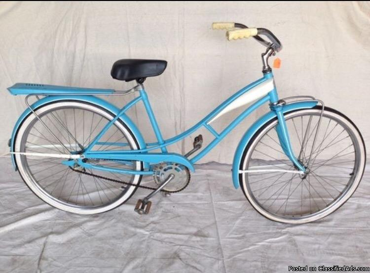 RARE VINTAGE 1957 HIGGINS SEARS/ROEBUCK WOMEN'S BICYCLE 26